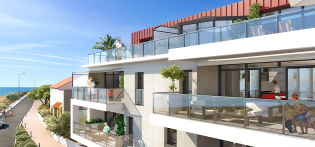 Vue terrasse programme Villa Gaïa